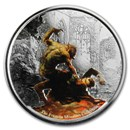 2017 Republic of Ghana 1 oz Silver Proof Werewolf vs. The Count