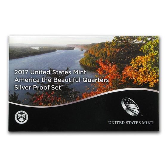 2017-S America the Beautiful Quarters Silver Proof Set
