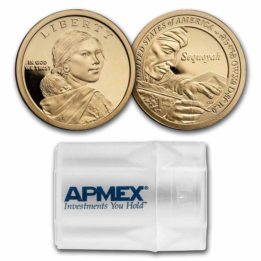 2017-S Native Amer $1 - Sequoyah 20-Coin Roll Gem Proof