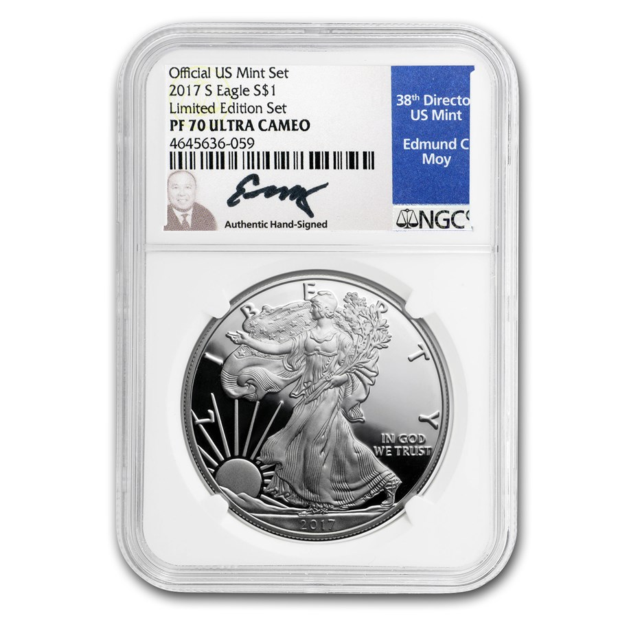 2017-S Proof American Silver Eagle PF-70 NGC