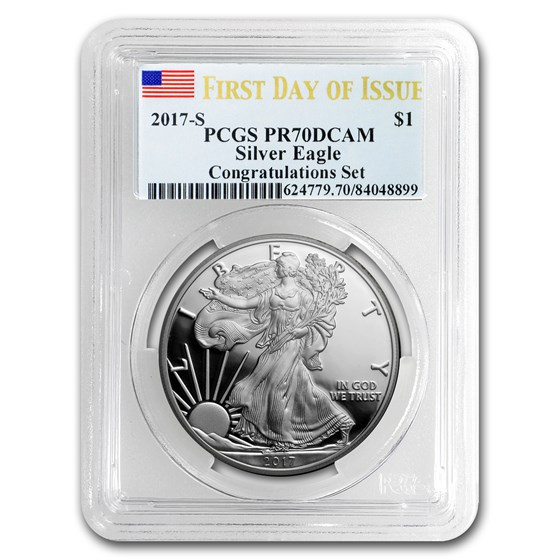 2017-S Proof American Silver Eagle PR-70 PCGS (First Day)