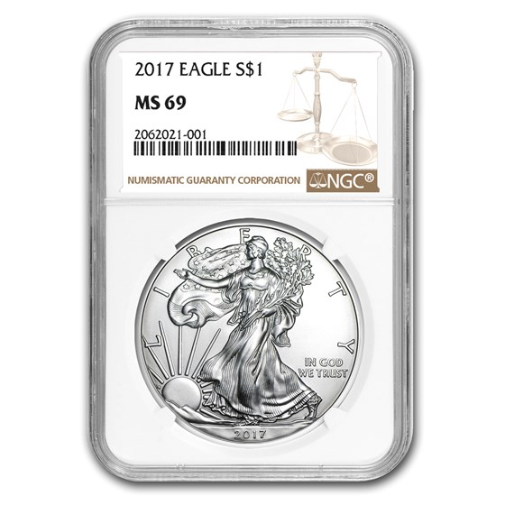 2017 Silver American Eagle MS-69 NGC