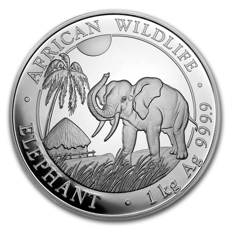 2017 Somalia 1 kilo Silver Elephant