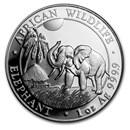 2017 Somalia 1 oz Silver Elephant BU