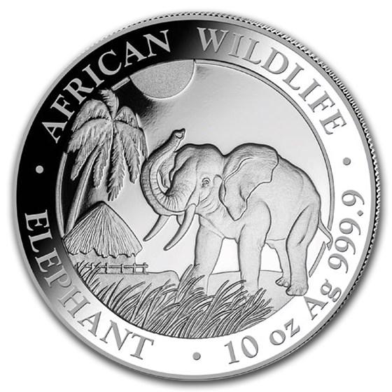 2017 Somalia 10 oz Silver Elephant BU