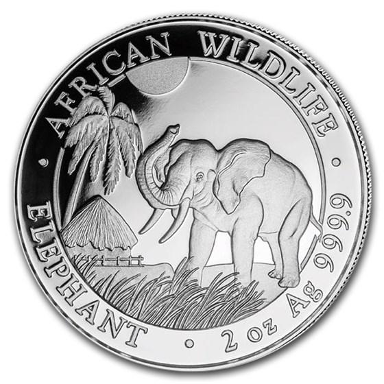 2017 Somalia 2 oz Silver Elephant BU
