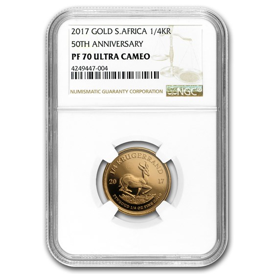 2017 South Africa 1/4 oz Proof Gold Krugerrand PF-70 NGC