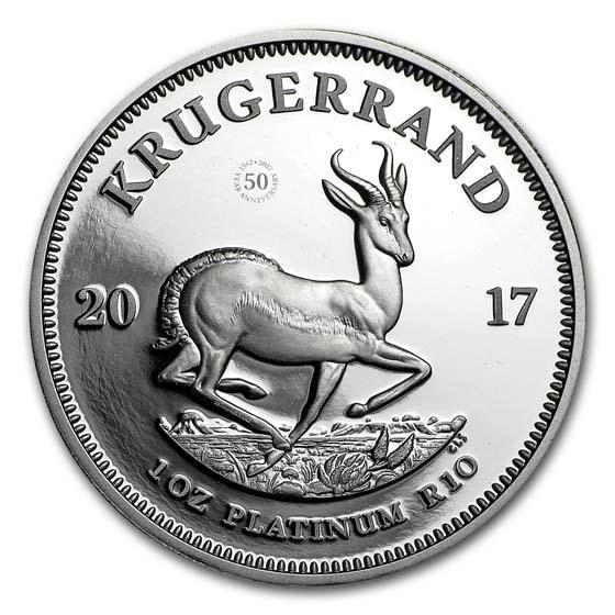 2017 South Africa 1 oz Platinum Krugerrand Proof