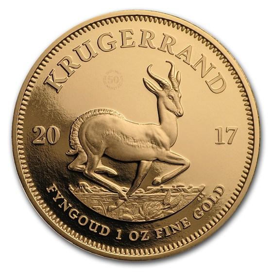2017 South Africa 1 oz Proof Gold Krugerrand