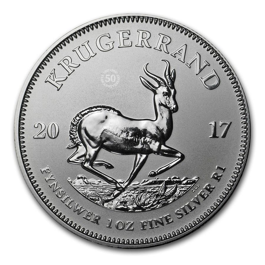 2017 South Africa 1 oz Silver Krugerrand Premium BU