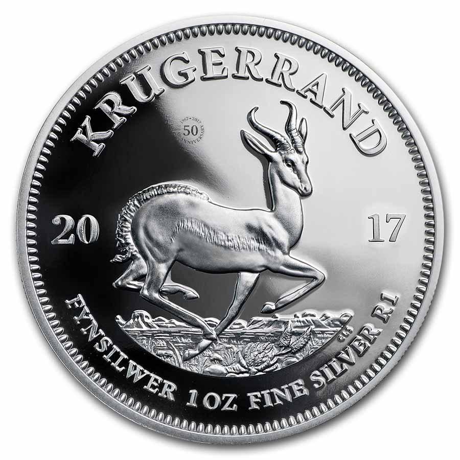 2017 South Africa 1 oz Silver Krugerrand Proof