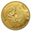 2017 South Korea 1 oz Gold 1 Clay Chiwoo Cheonwang BU