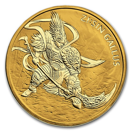 2017 South Korea 1 oz Gold ZI:SIN Gallus BU