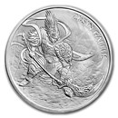 2017 South Korea 1 oz Silver ZI:SIN Gallus BU