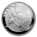 2017 South Korea 1 oz Silver ZI:SIN Gallus Proof