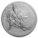 2017 South Korea 10 oz Silver ZI:SIN Gallus BU
