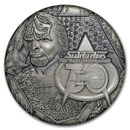 2017 TUV 1 oz Ag Star Trek: Next Generation LT Commander Worf Prf