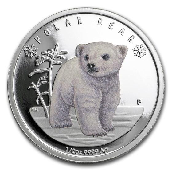 2017 Tuvalu 1/2 oz Silver Polar Babies: Polar Bear Proof