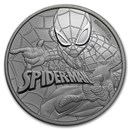 2017 Tuvalu 1 oz Silver $1 Marvel Series SPIDERMAN™ BU