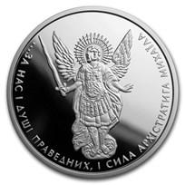 2017 Ukraine 1 oz Silver Archangel Michael Proof