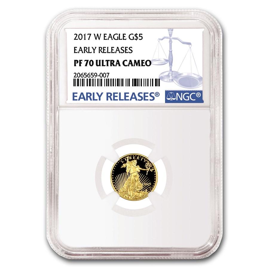 2017-W 1/10 oz Proof Gold American Eagle PF-70 NGC (ER)