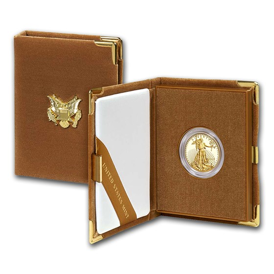 2017-W 1/2 oz Proof American Gold Eagle (w/Box & COA)