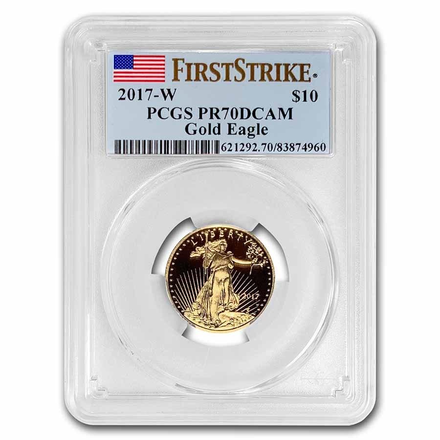 2017-W 1/4 oz Proof American Gold Eagle PR-70 PCGS (FS)