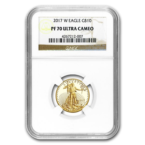 2017-W 1/4 oz Proof Gold American Eagle PF-70 NGC UCAM