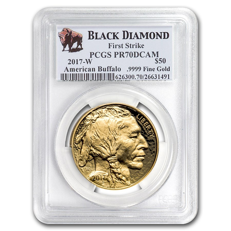 2017-W 1 oz Proof Gold Buffalo PR-70 PCGS (FS, Black Diamond)