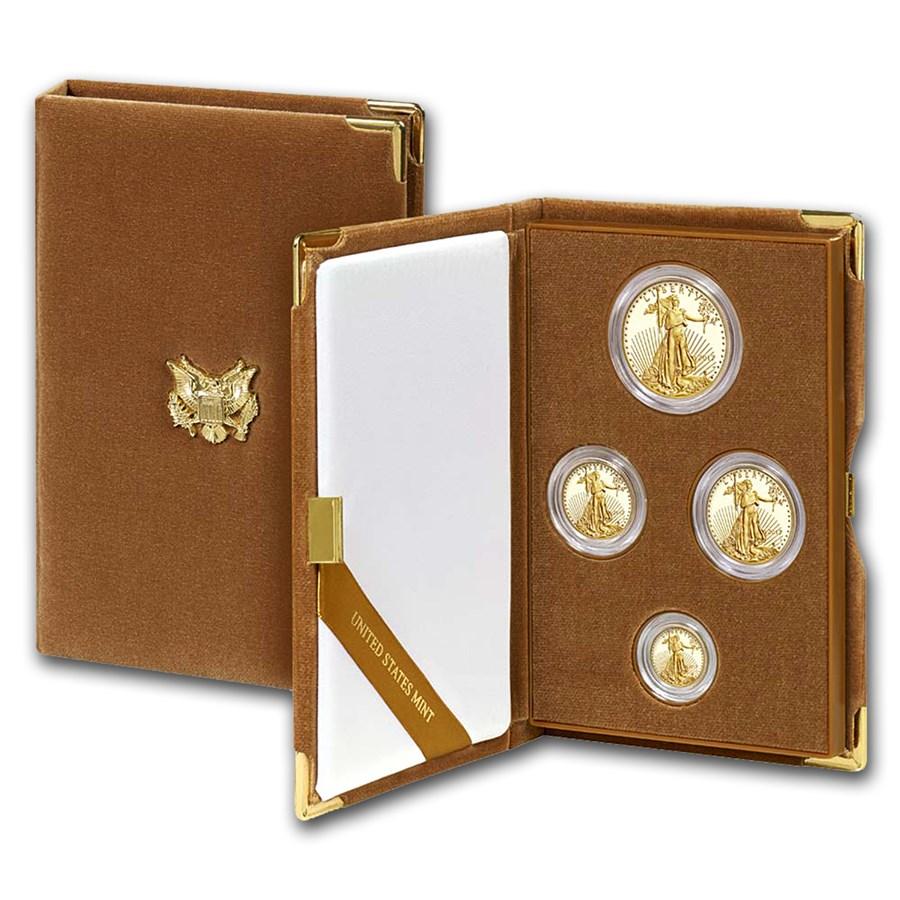 2017-W 4-Coin Proof American Gold Eagle Set (w/Box & COA)