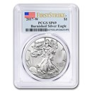 2017-W Burnished American Silver Eagle SP-69 PCGS (FirstStrike®)