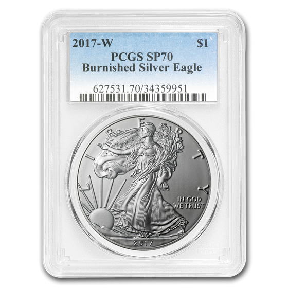 2017-W Burnished Silver American Eagle SP-70 PCGS
