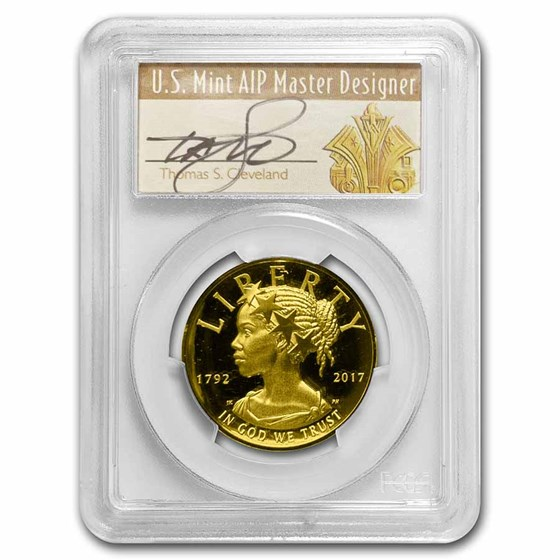 2017-W High Relief American Liberty Gold PR-70 PCGS (Cleve Den.)
