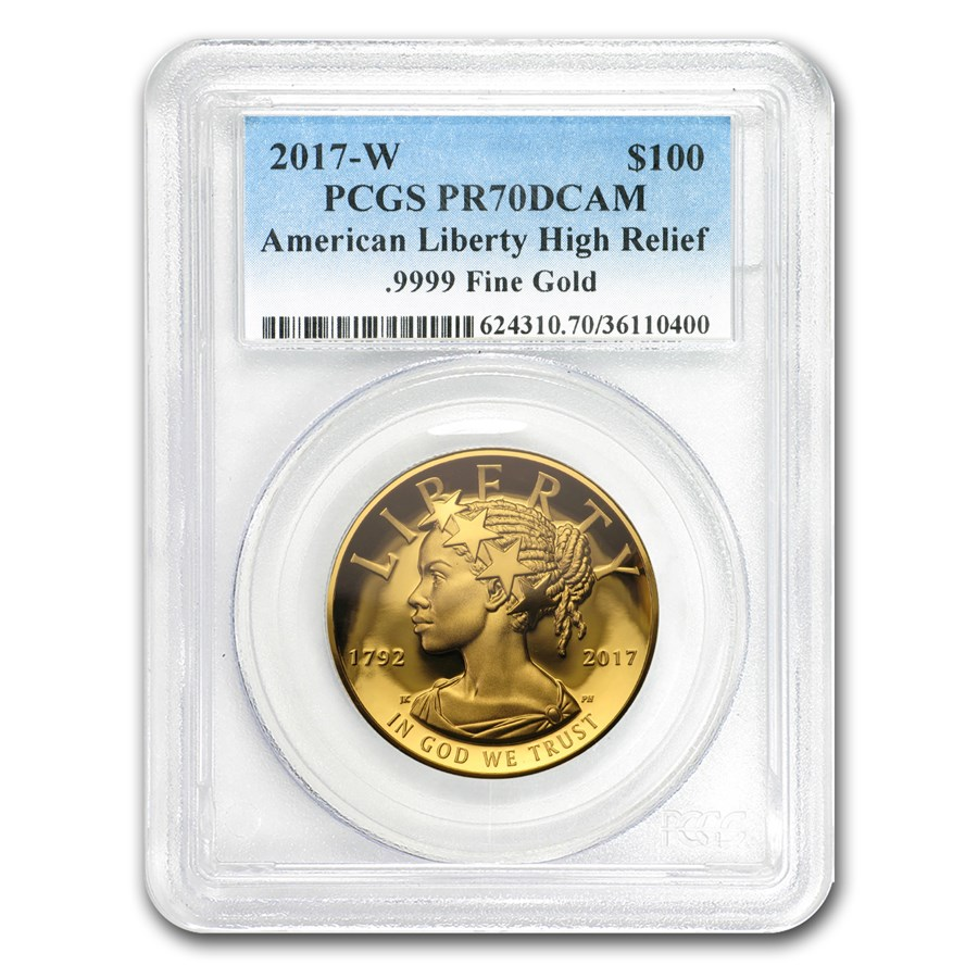 2017-W High Relief American Liberty Gold PR-70 PCGS
