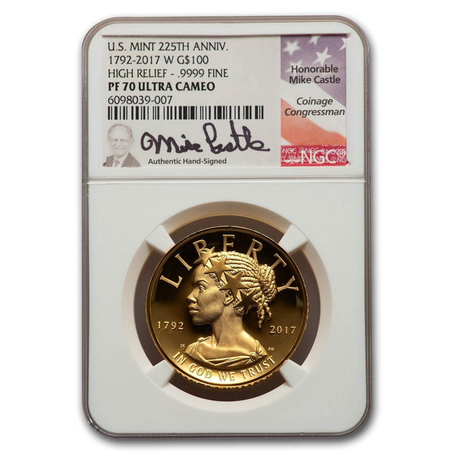 2017-W HR American Liberty Gold PF-70 NGC (Castle Signed)
