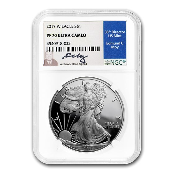 2017-W Proof American Silver Eagle PF-70 NGC (Moy)