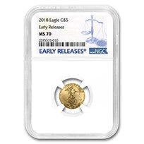2018 1/10 oz American Gold Eagle MS-70 NGC (Early Releases)