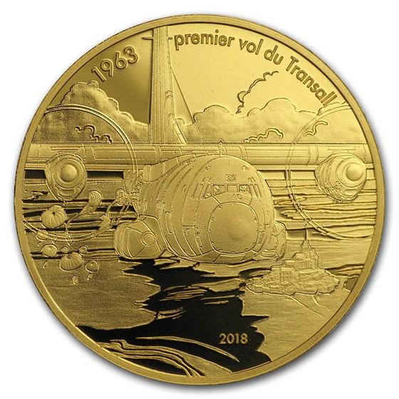 2018 1/4 oz Proof Gold €50 Aviation & History (Transall)