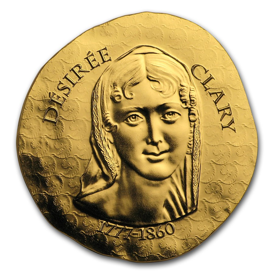 2018 1/4 oz Proof Gold €50 Women of France (Desiree Clary)