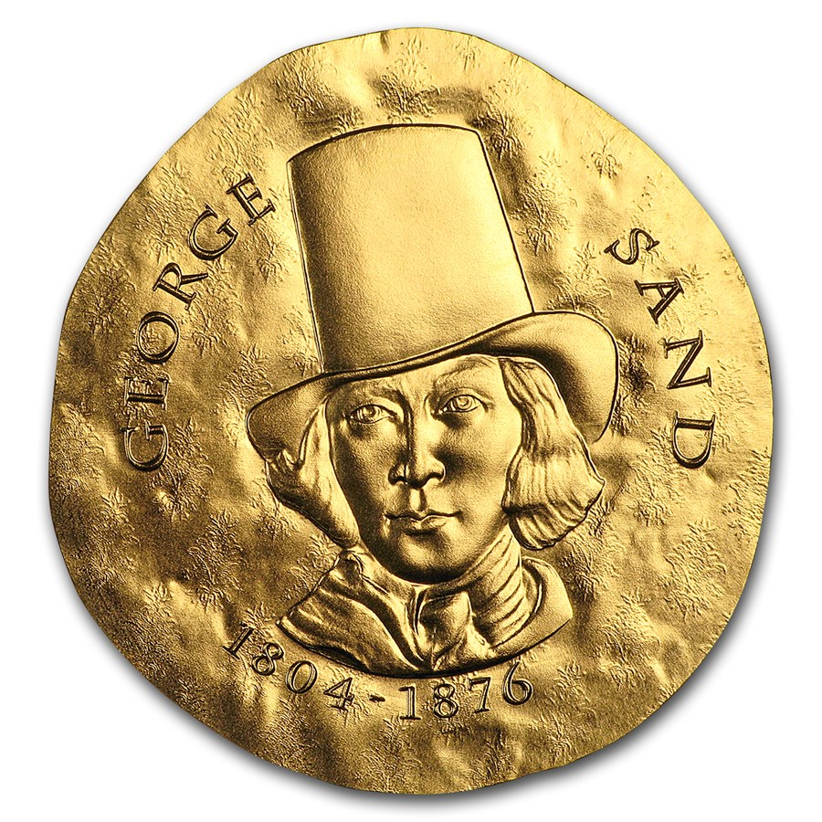 2018 1/4 oz Proof Gold €50 Women of France (George Sand)