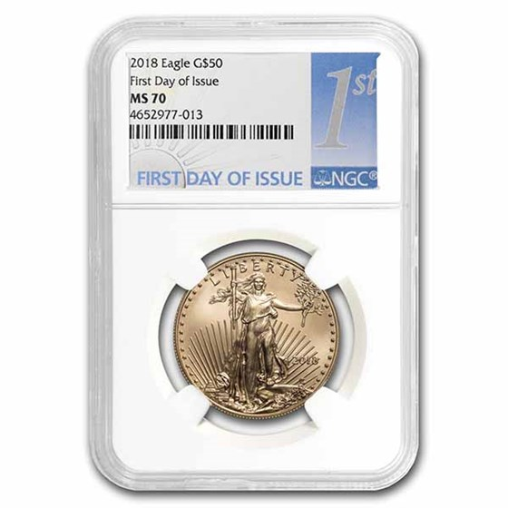 2018 1 oz American Gold Eagle MS-70 NGC (First Day of Issue)
