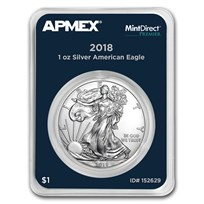 2018 1 oz American Silver Eagle (MintDirect® Premier Single)