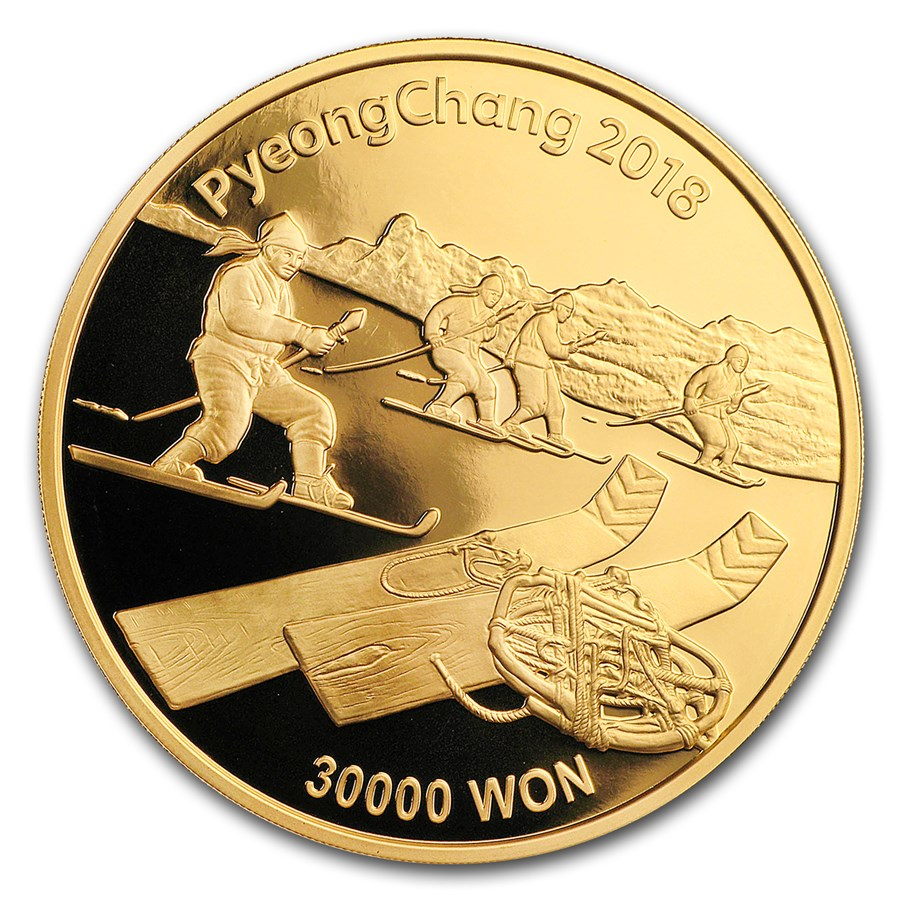 2018 1 oz Gold PyeongChang Winter Olympic Gorosoi Proof