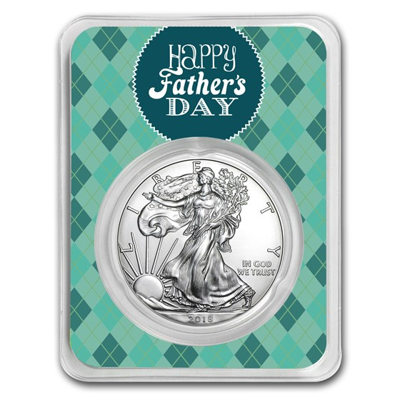 2018 1 oz Silver American Eagle - Father's Day Argyle