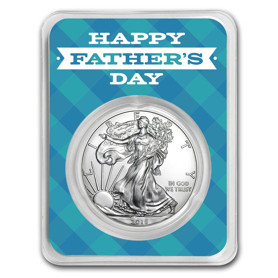 2018 1 oz Silver American Eagle - Father's Day Plaid