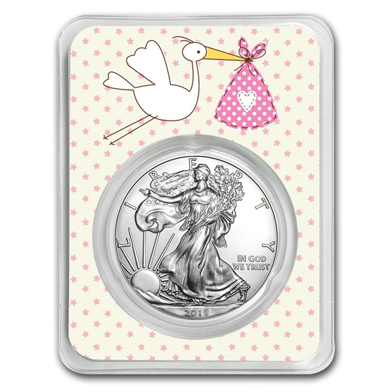 2018 1 oz Silver American Eagle - It's A Girl Delivery