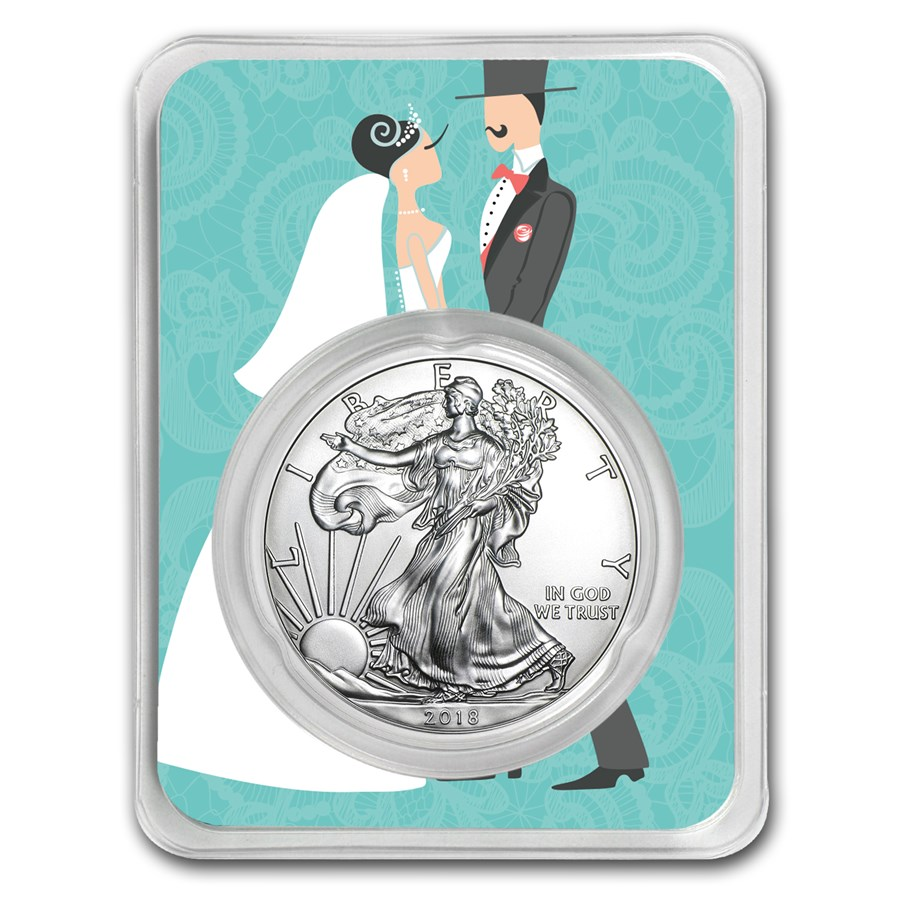 2018 1 oz Silver American Eagle - Just Married Couple