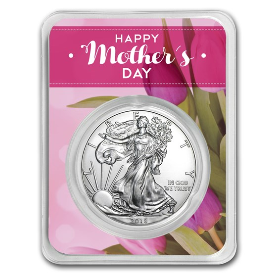 2018 1 oz Silver American Eagle - Mother's Day Floral