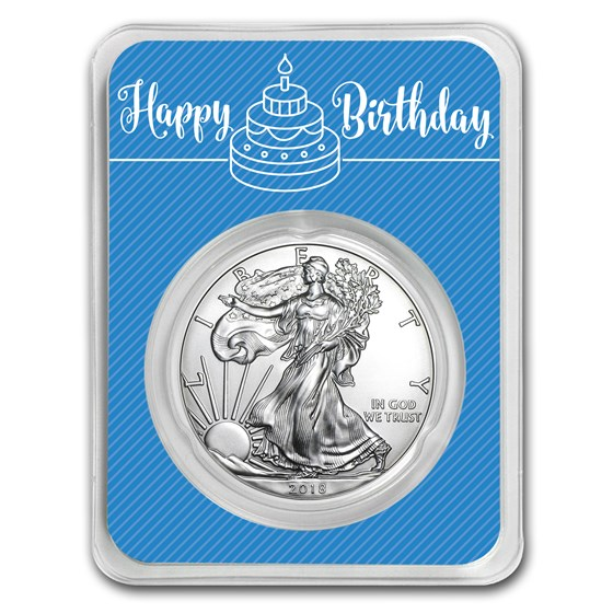 2018 1 oz Silver American Eagle - Royal Birthday