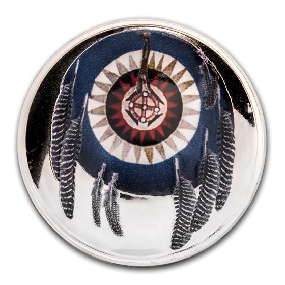2018 1 oz Silver Domed Native American Weapons Cherokee Jawbone
